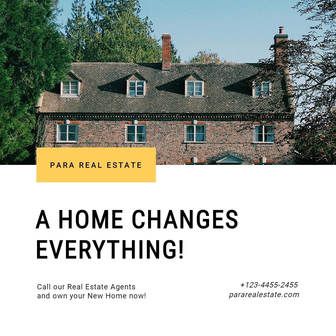 Basic Real Estate Instagram Post Template