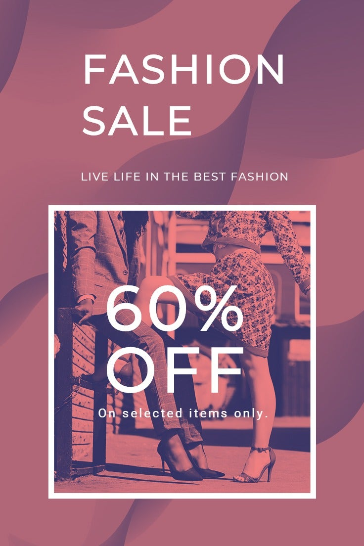 Fashion Sale Offers Pinterest Pin Template