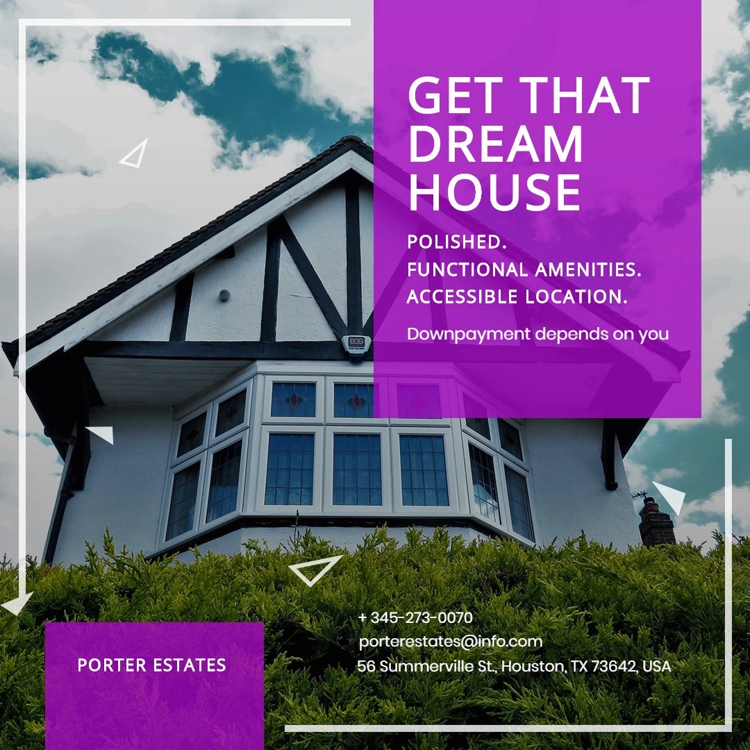 Real Estate Advertising Instagram Post Template