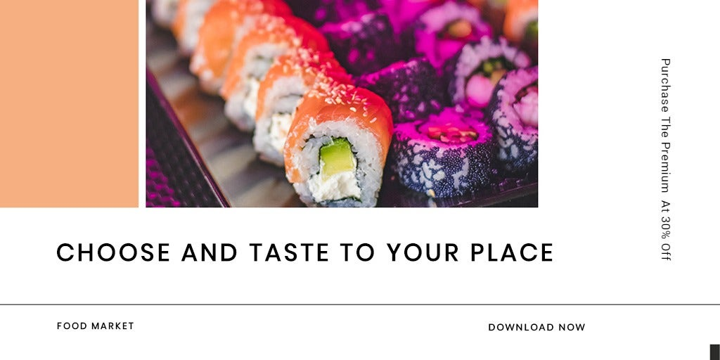 Editable Food App Promotion Twitter Post Template