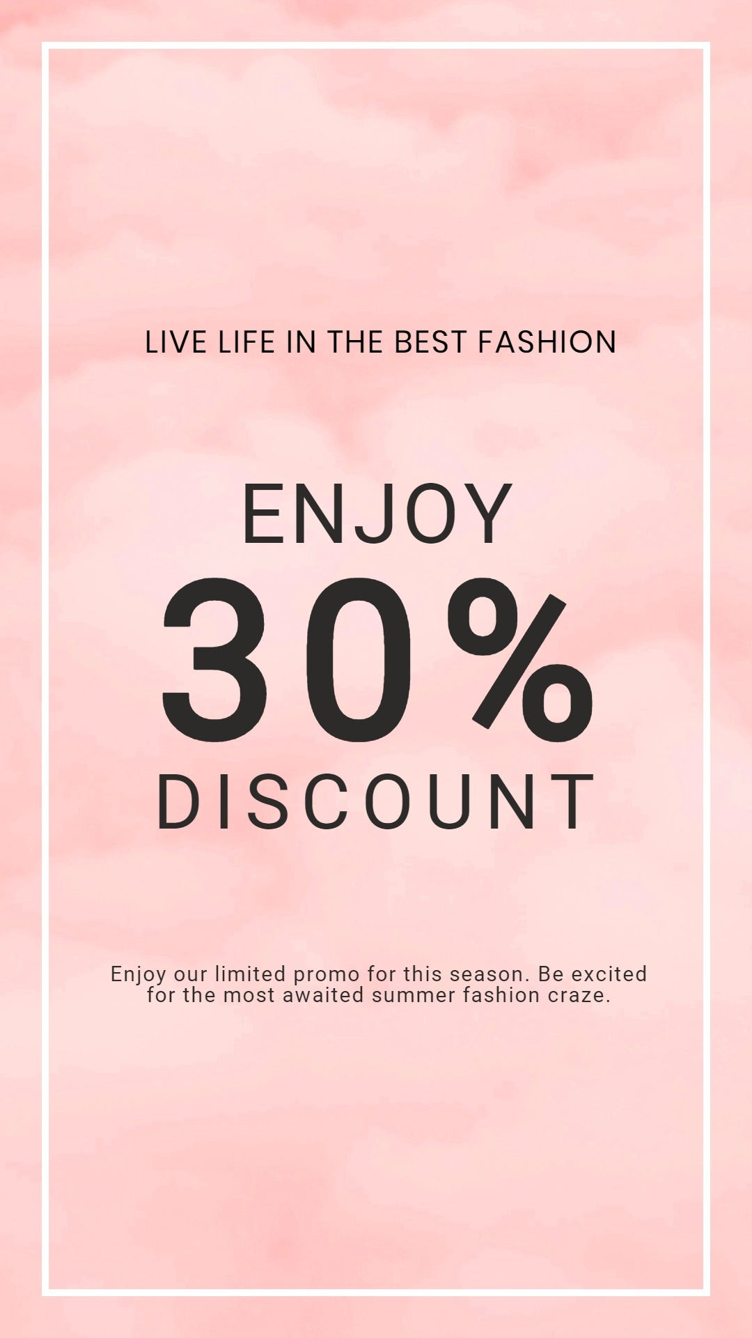 Seasonal Fashion Sale Whatsapp Post Template