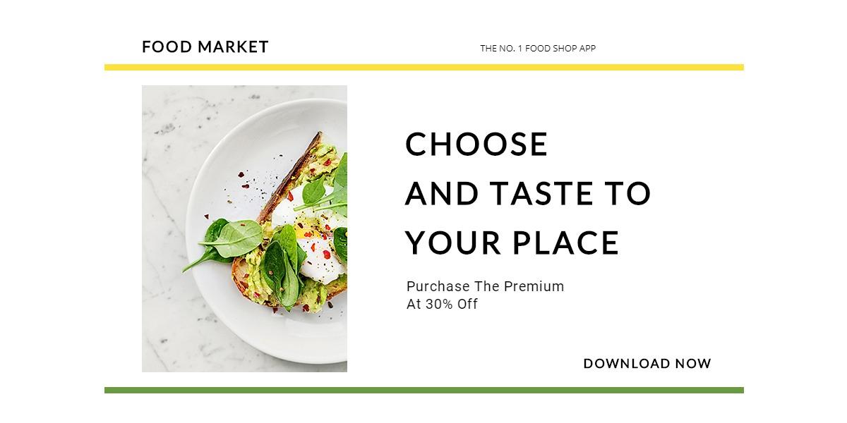 Food Market App Promotion Blog Post Template
