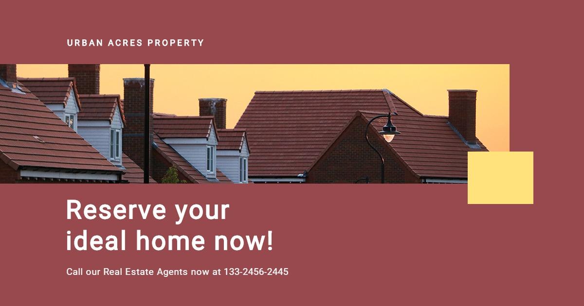 Urban Real Estate Facebook Post Template