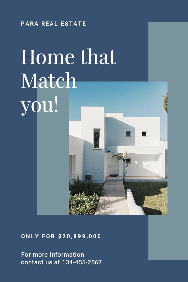 Real Estate House Sale Pinterest Pin Template