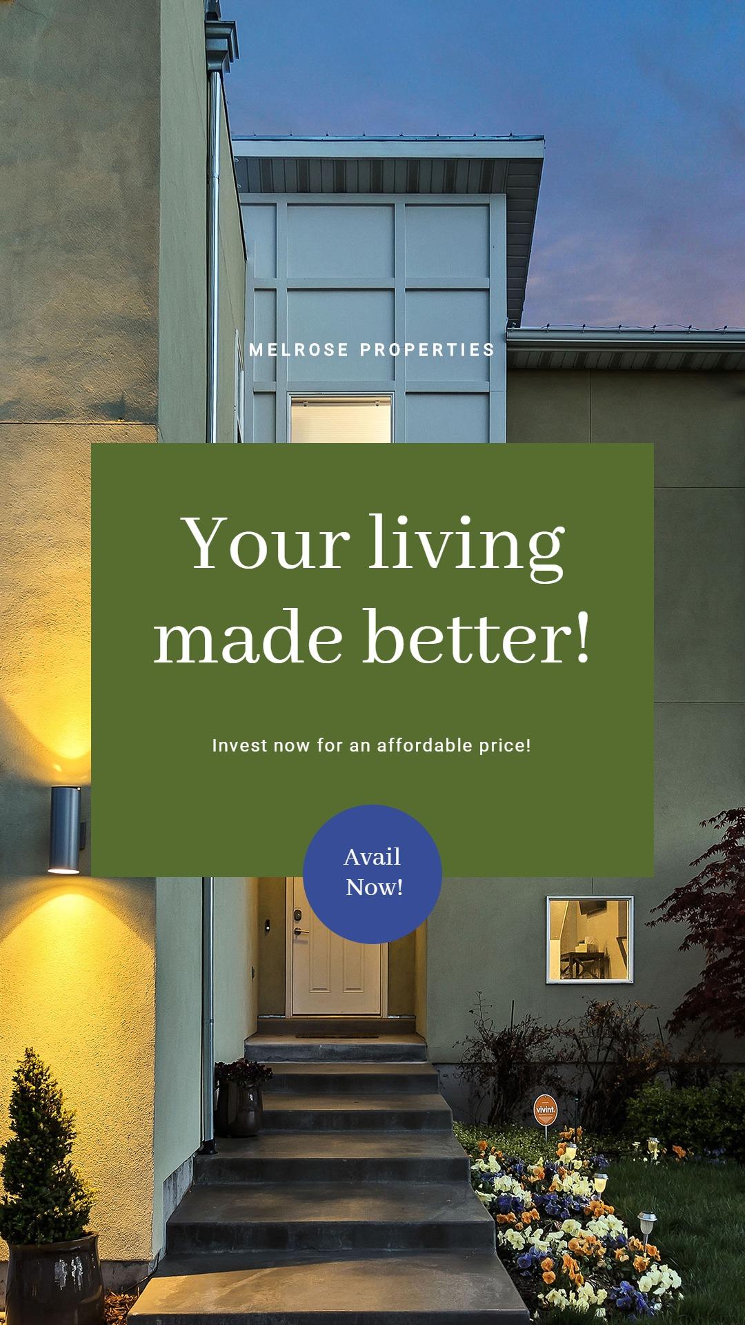 Elegant Real Estate Whatsap Post Template