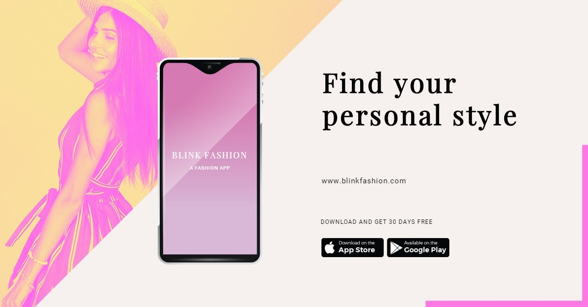 Fashion Store App Promotion LinkedIn Post Template