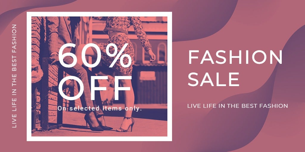 Fashion Sale Offers Twitter Post Template