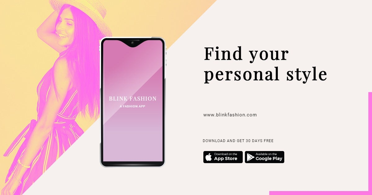 Fashion Store App Promotion Facebook Post Template