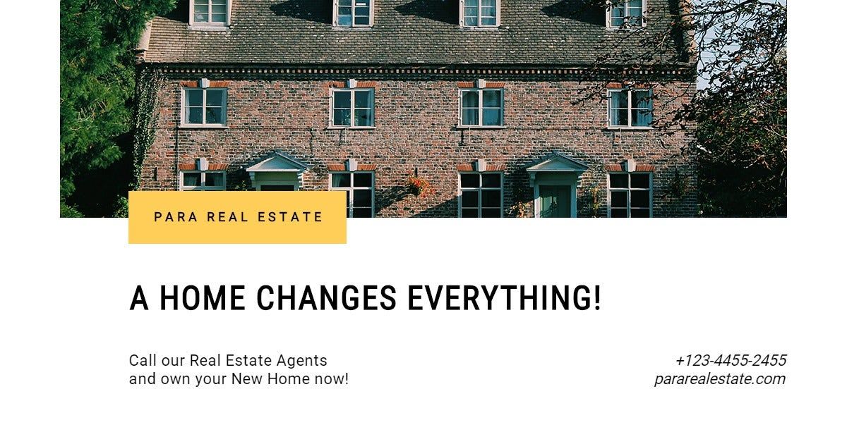 Basic Real Estate Facebook Post Template