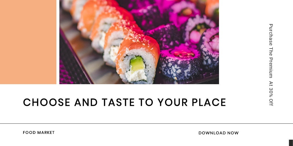 Editable Food App Promotion Blog Post Template