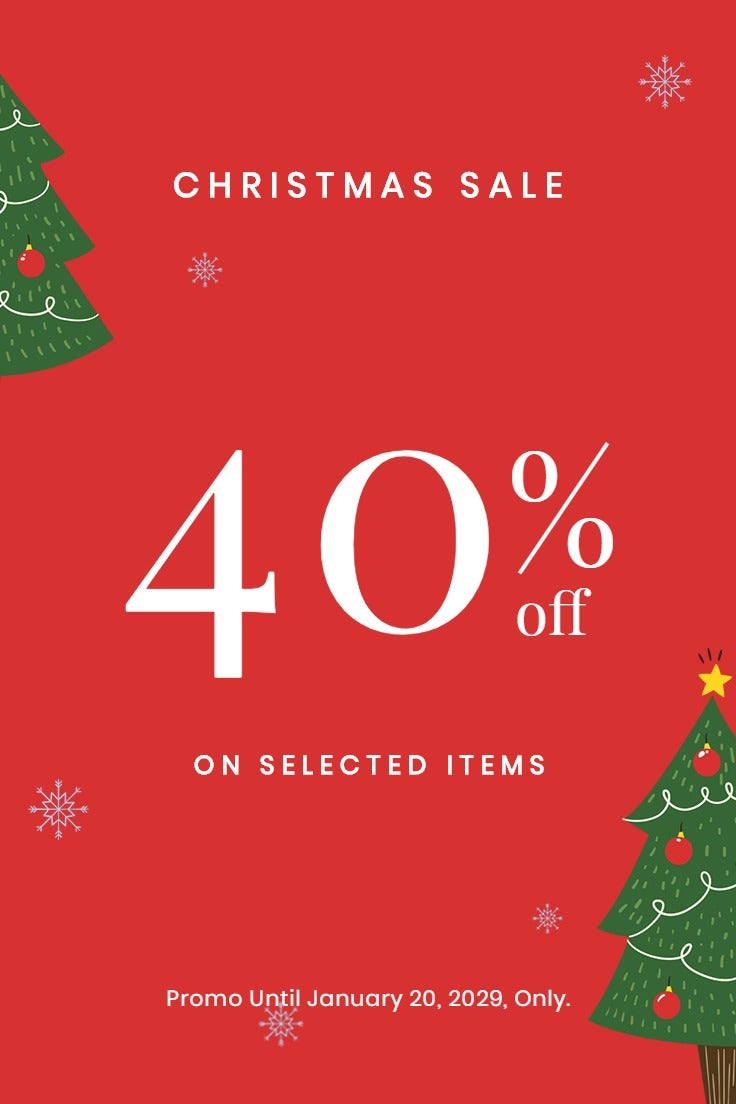 Christmas Holiday Sale Pinterest Pin Template