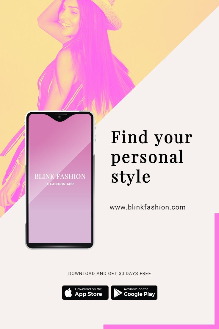 Fashion Store App Promotion Pinterest Pin Template