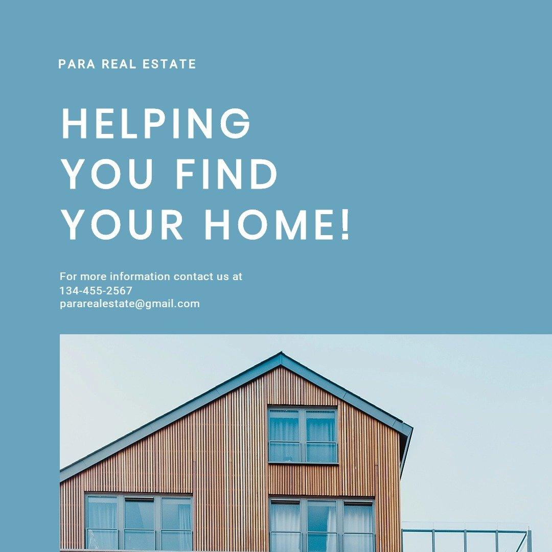 Simple Real Estate Instagram Post Template