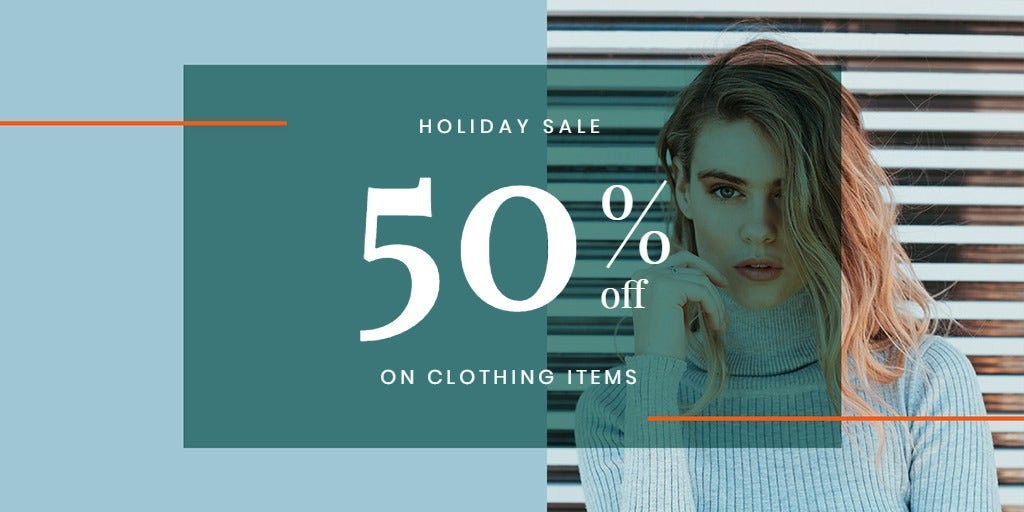 Holiday Collection Sale Twitter Post Template