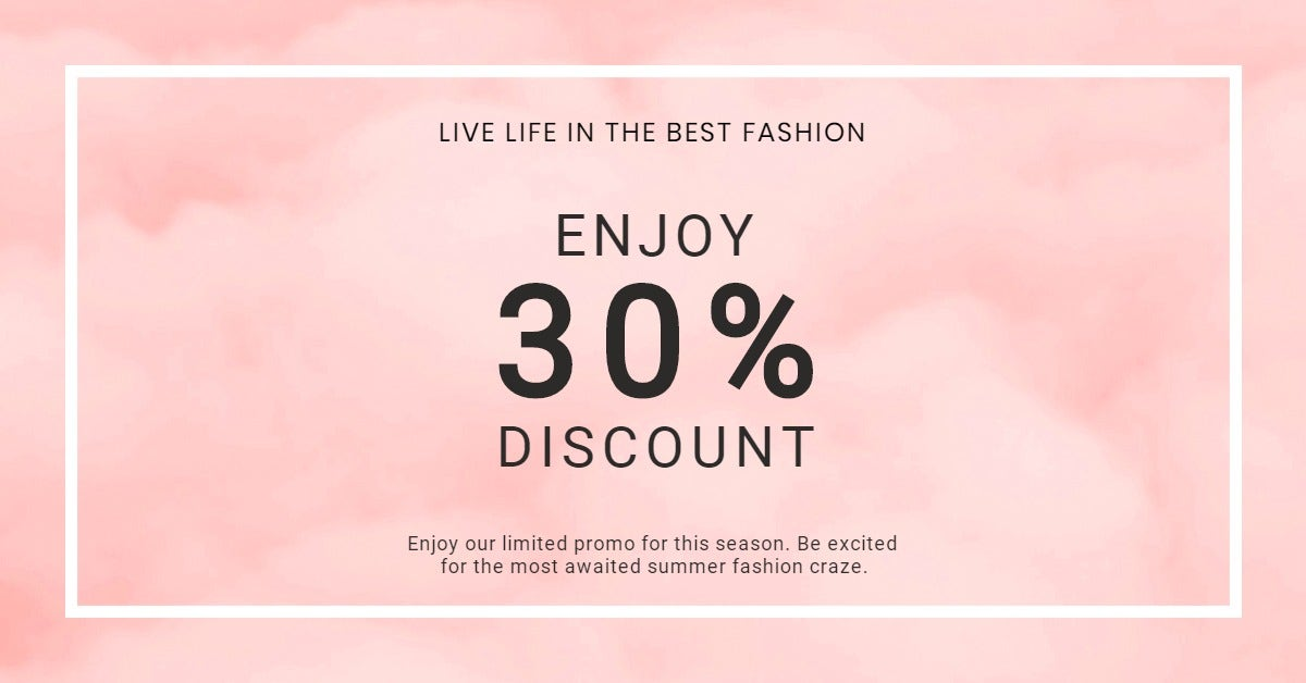 Seasonal Fashion Sale LinkedIn Post Template