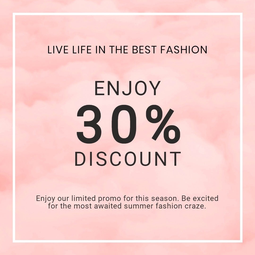 Seasonal Fashion Sale Instagram Post Template