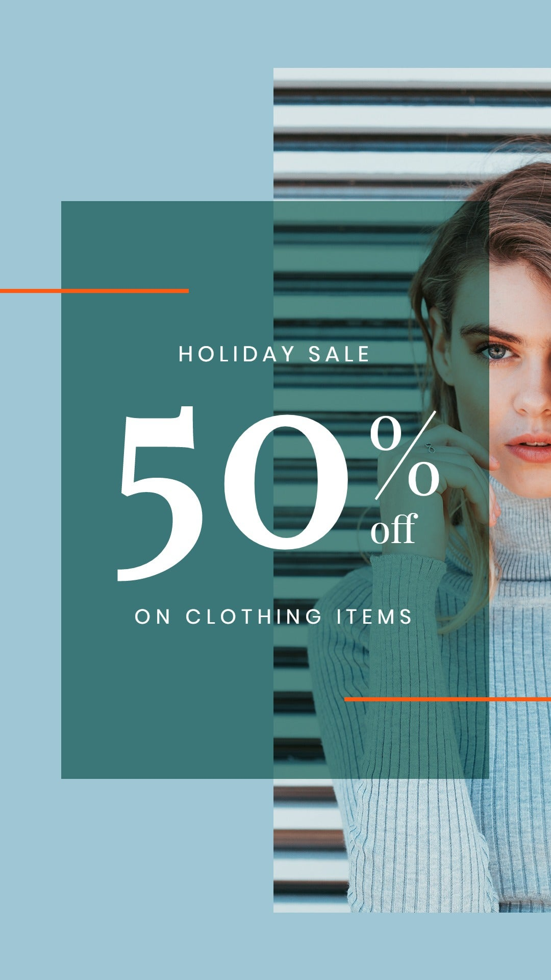 Holiday Collection Sale WhatsApp Post Template