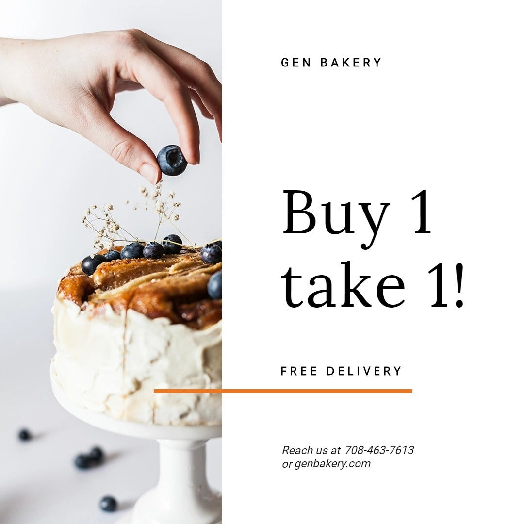Bake Sale Promotion Instagram Post Template
