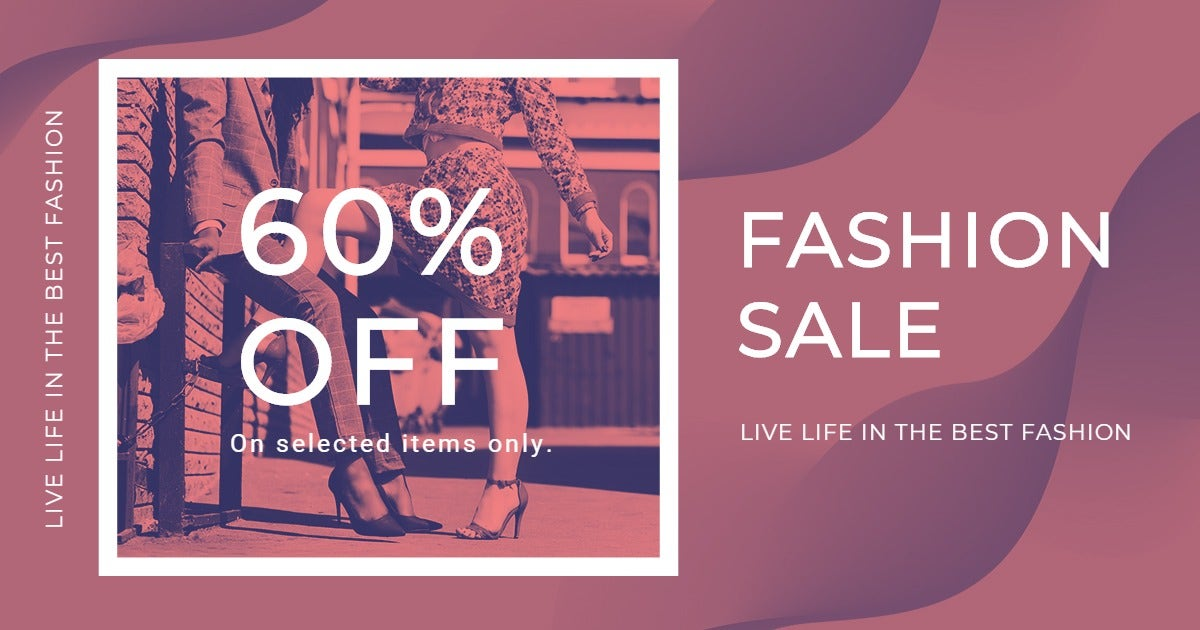 Fashion Sale Offers Facebook Post Template
