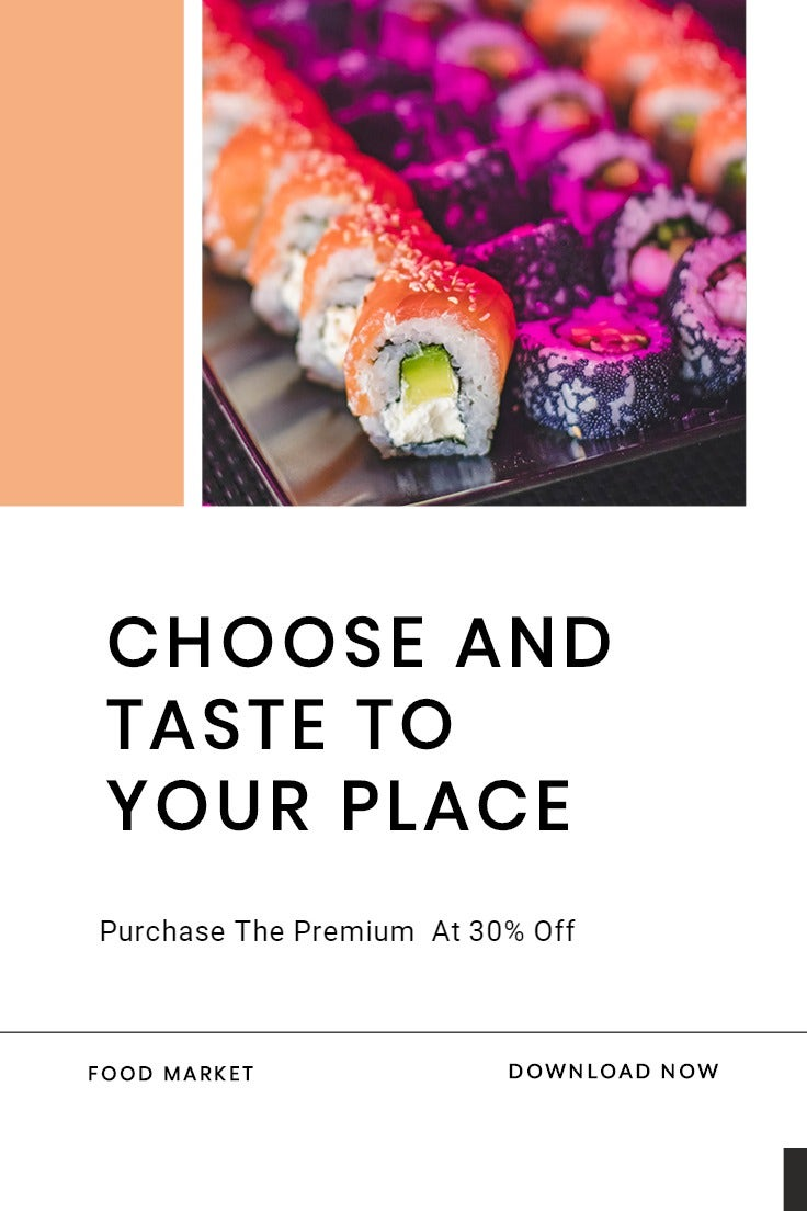 Editable Food App Promotion Pinterest Pin Template