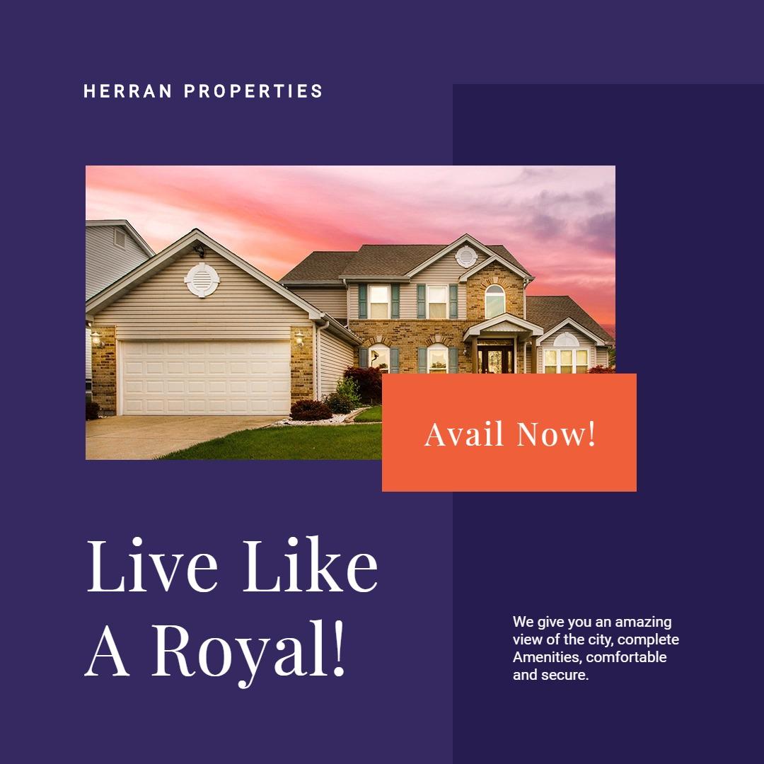 Luxury Real Estate Instagram Post Template