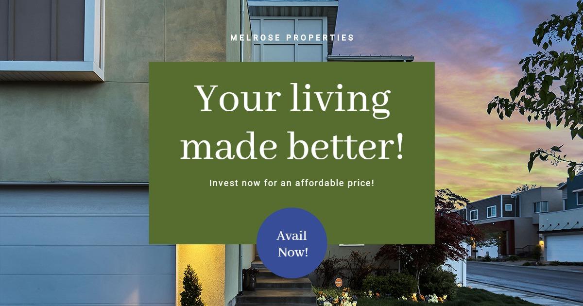 Elegant Real Estate Facebook Post Template