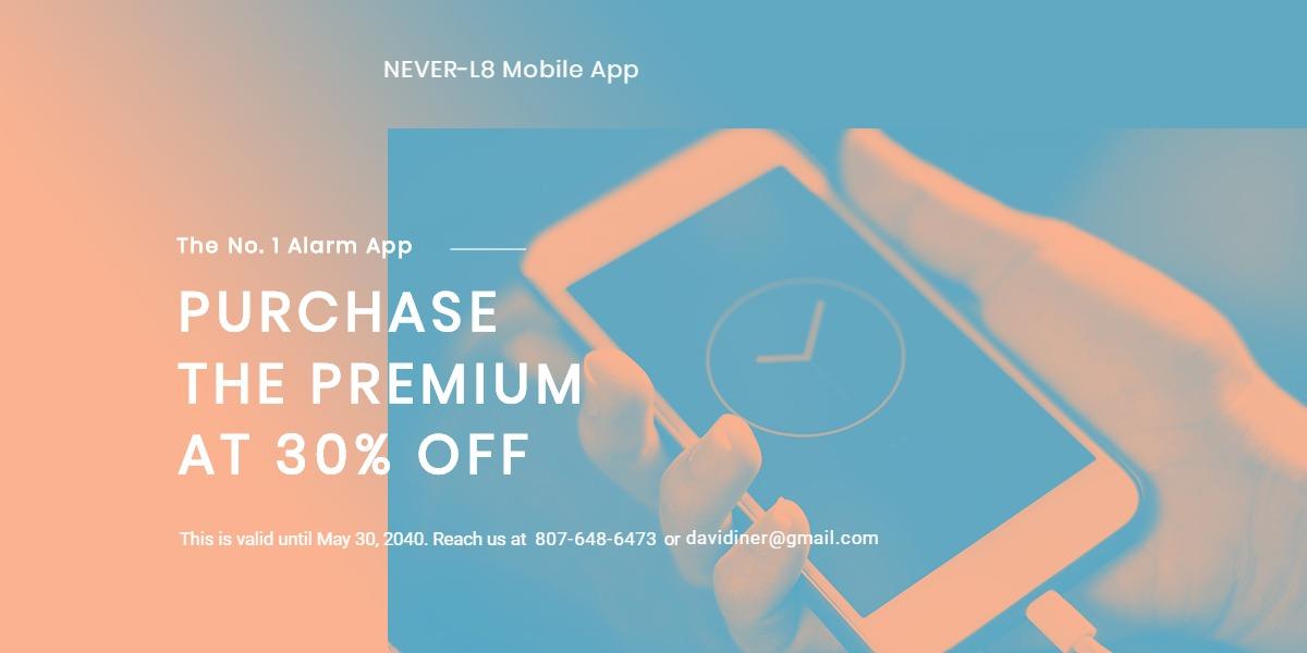 Mobile App Promotion Blog Post Template