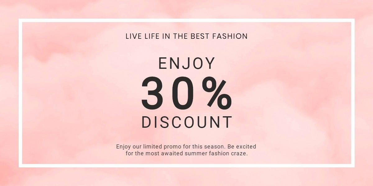 Seasonal Fashion Sale Blog Post Template