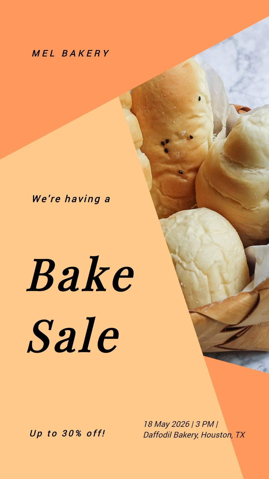 Bake Sale Event Whatsapp Post Template