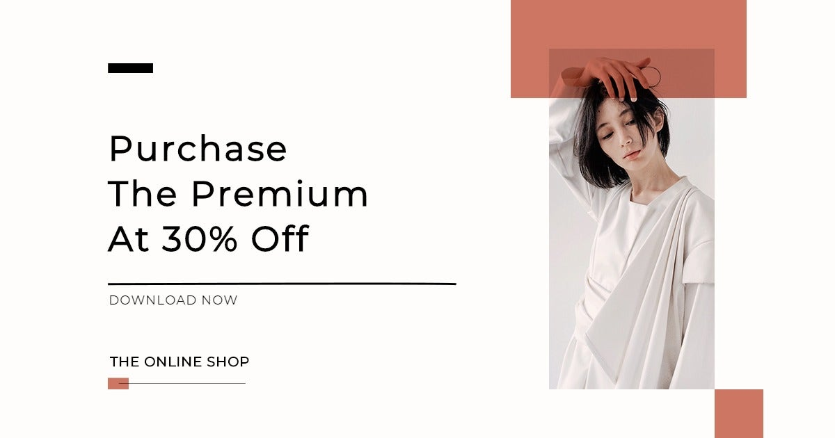 Minimalistic Fashion App Promotion Facebook Post Template