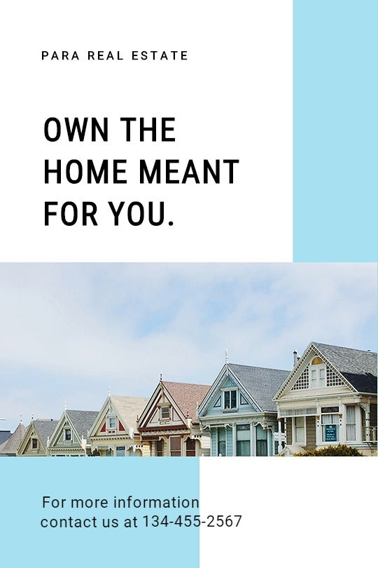 Minimalistic Real Estate Tumblr Post Template