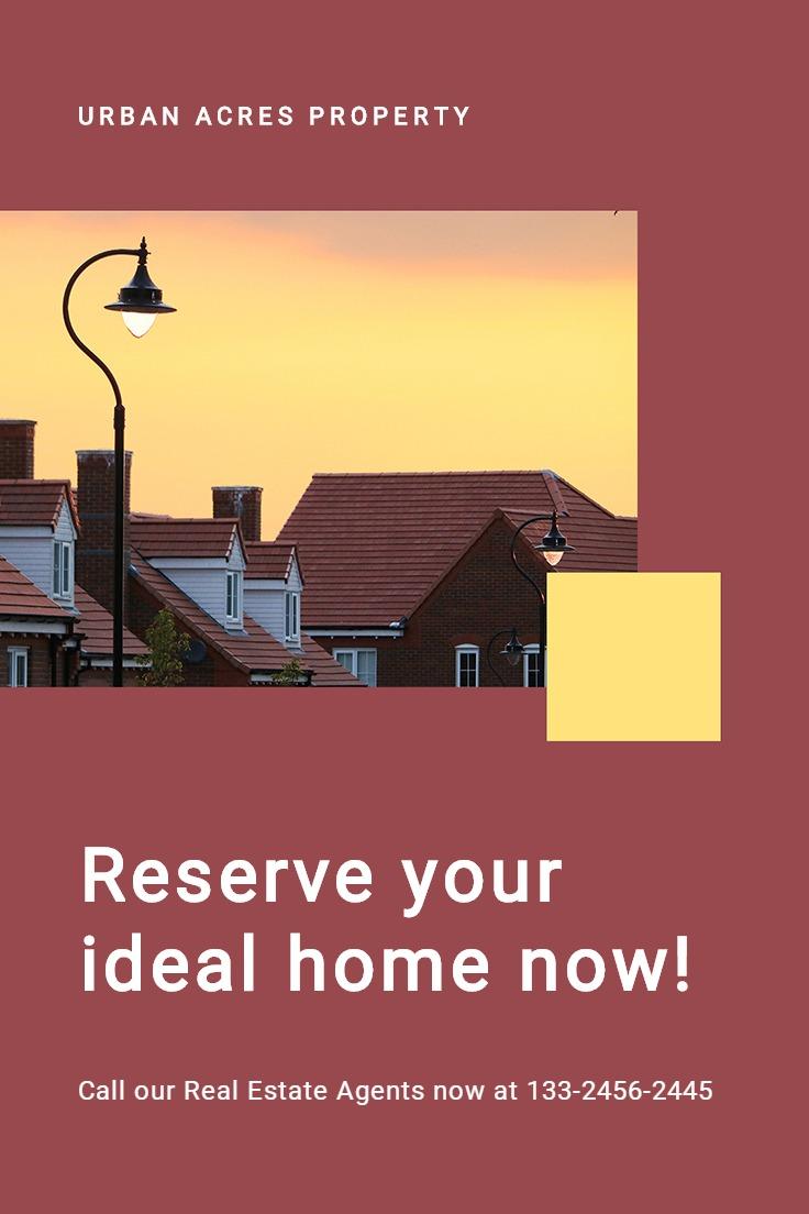 Urban Real Estate Pinterest Pin Template