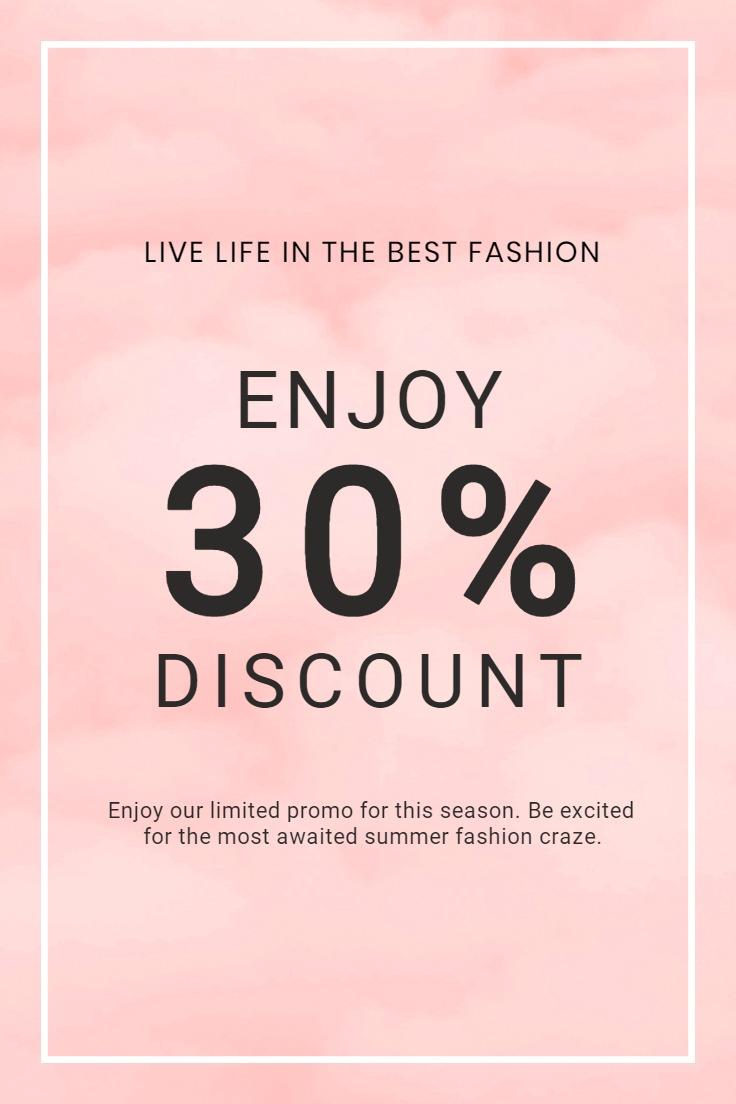 Seasonal Fashion Sale Pinterest Pin Template