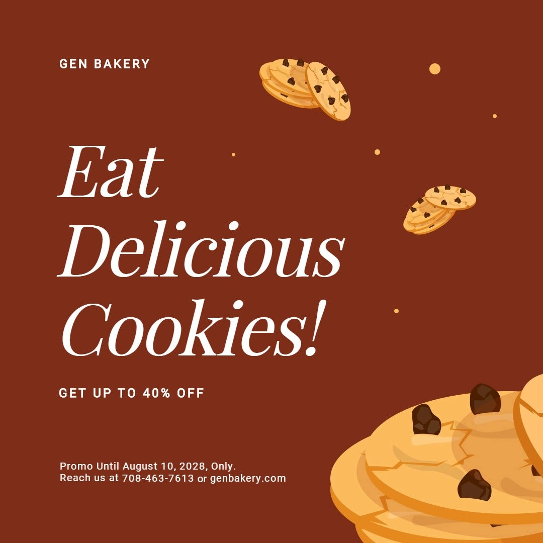 Cookies Sale Instagram Post Template