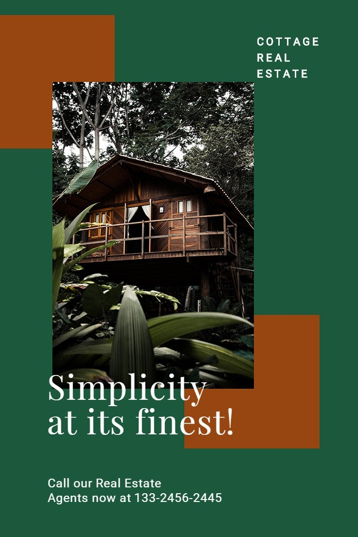 Cottage House Real Estate Pinterest Pin Template