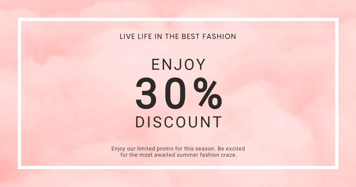 Seasonal Fashion Sale Facebook Post Template