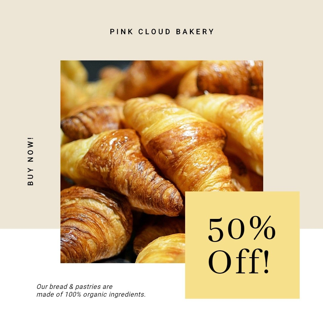 Bakery Store Promotion Instagram Post Template