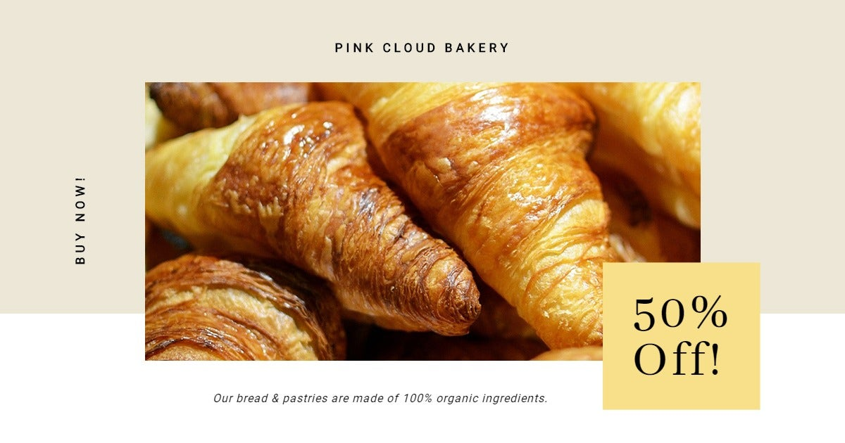 Bakery Store Promotion Facebook Post Template