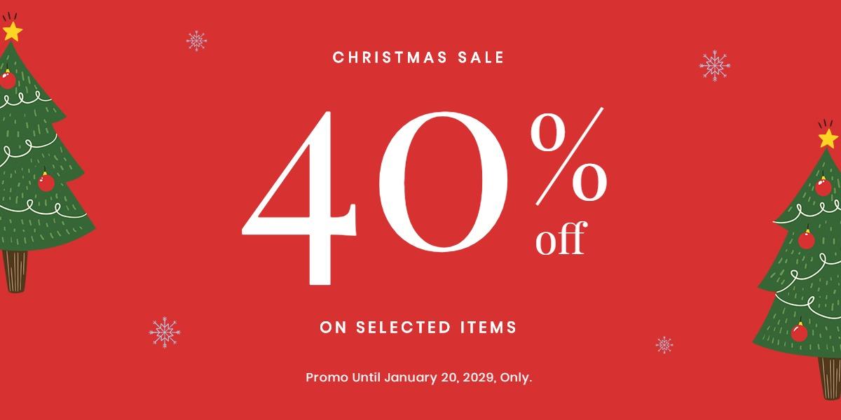 Christmas Holiday Sale Blog Post Template