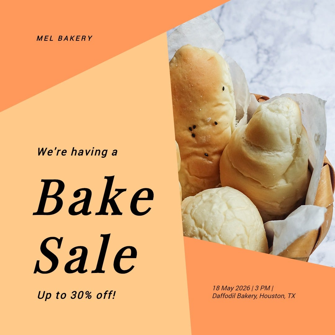 Bake Sale Event Instagram Post Template