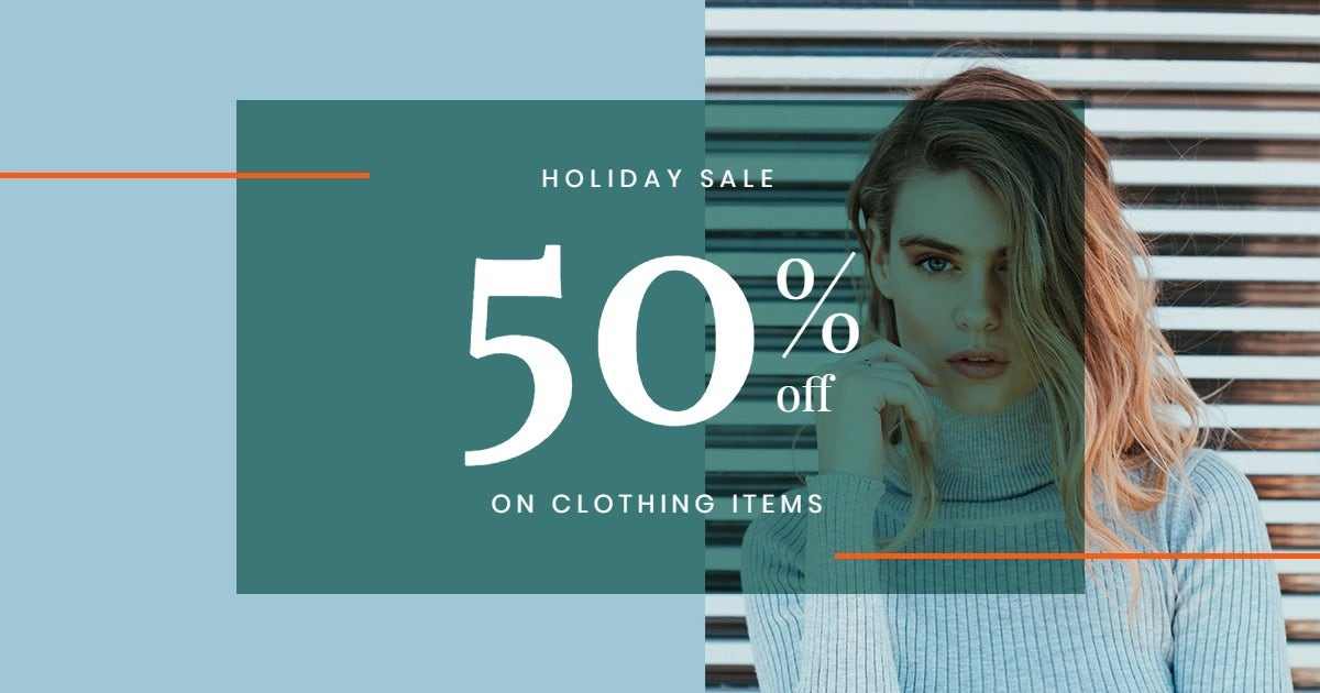 Holiday Collection Sale Facebook Post Template