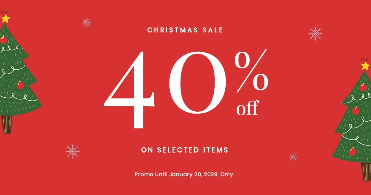 Christmas Holiday Sale Facebook Post Template