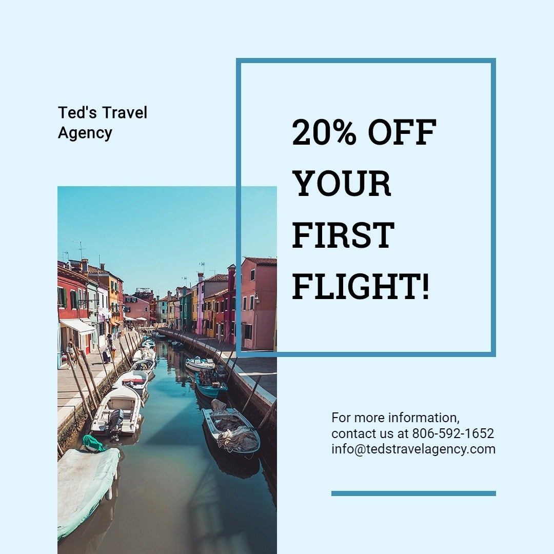 Summer Travel Instragram Post Template