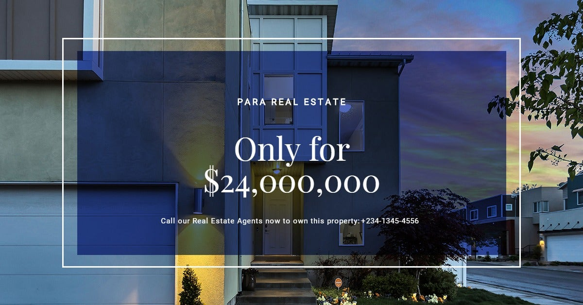 House for Sale Linkedin Post Template