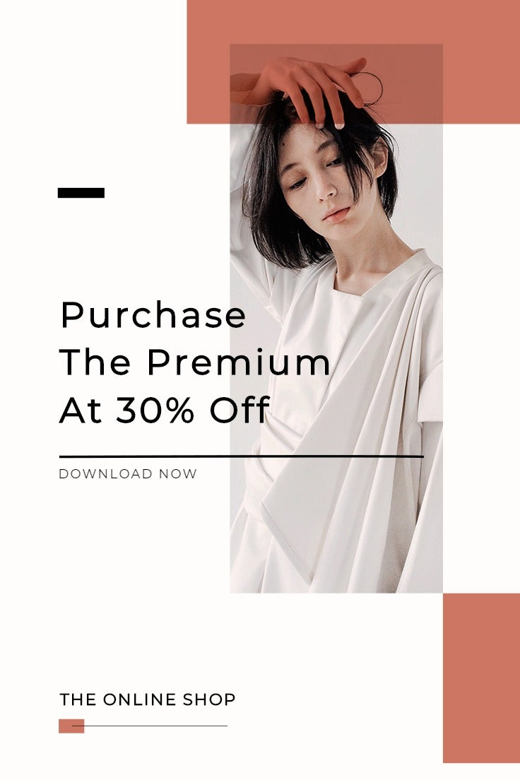 Minimalistic Fashion App Promotion Pinterest Pin Template