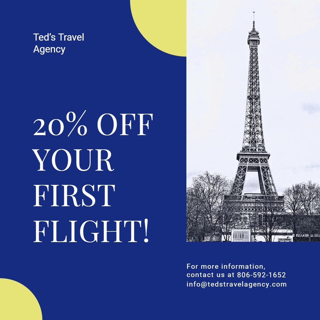 Simple Travel Agency Instagram Post Template