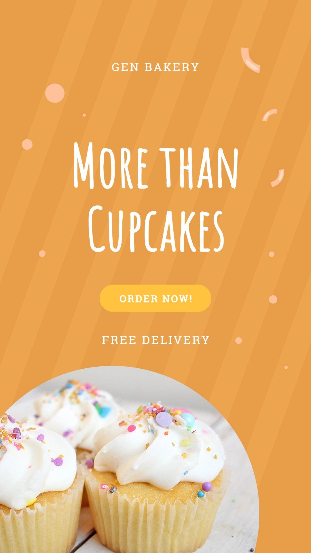 Cupcake Bakery Instagram Story Template