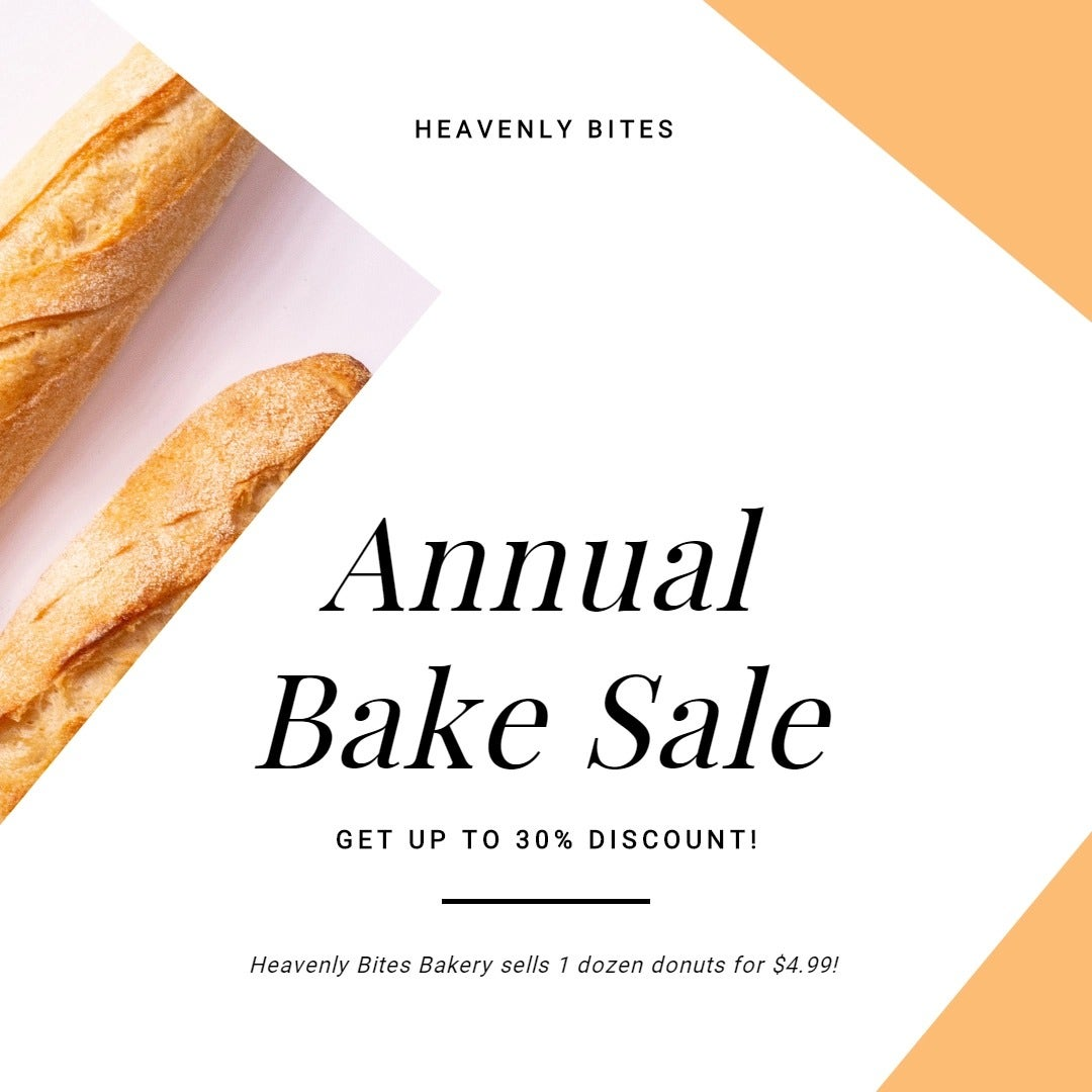 Annual Bake Sale Instagram Post Template