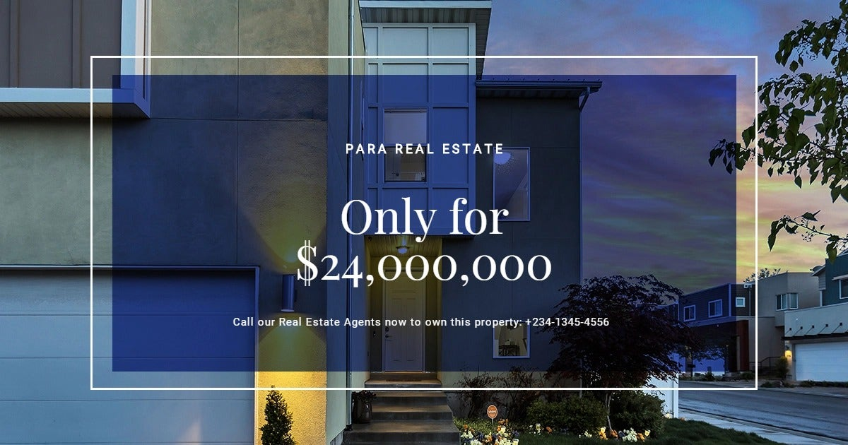 House for Sale Facebook Post Template