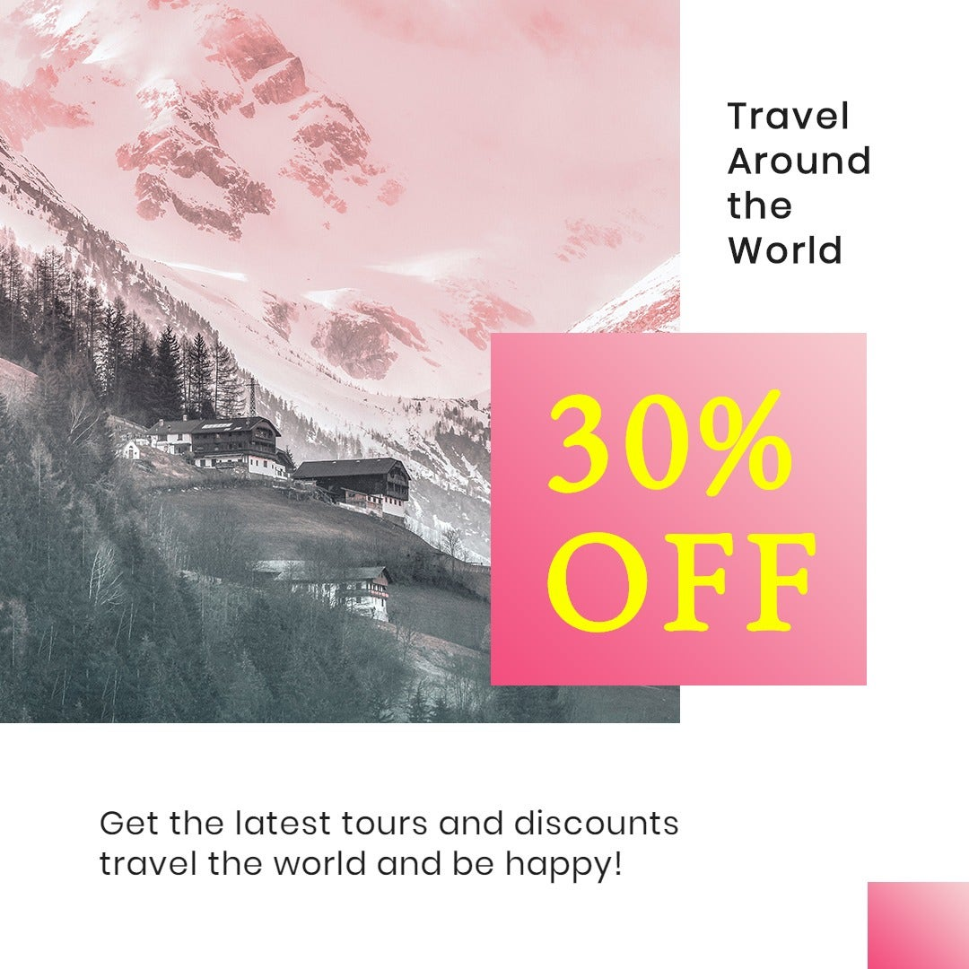 Travel Discount Instagram Post Template